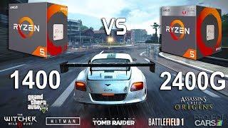 Ryzen 5 2400G vs Ryzen 5 1400 Test in 7 Games