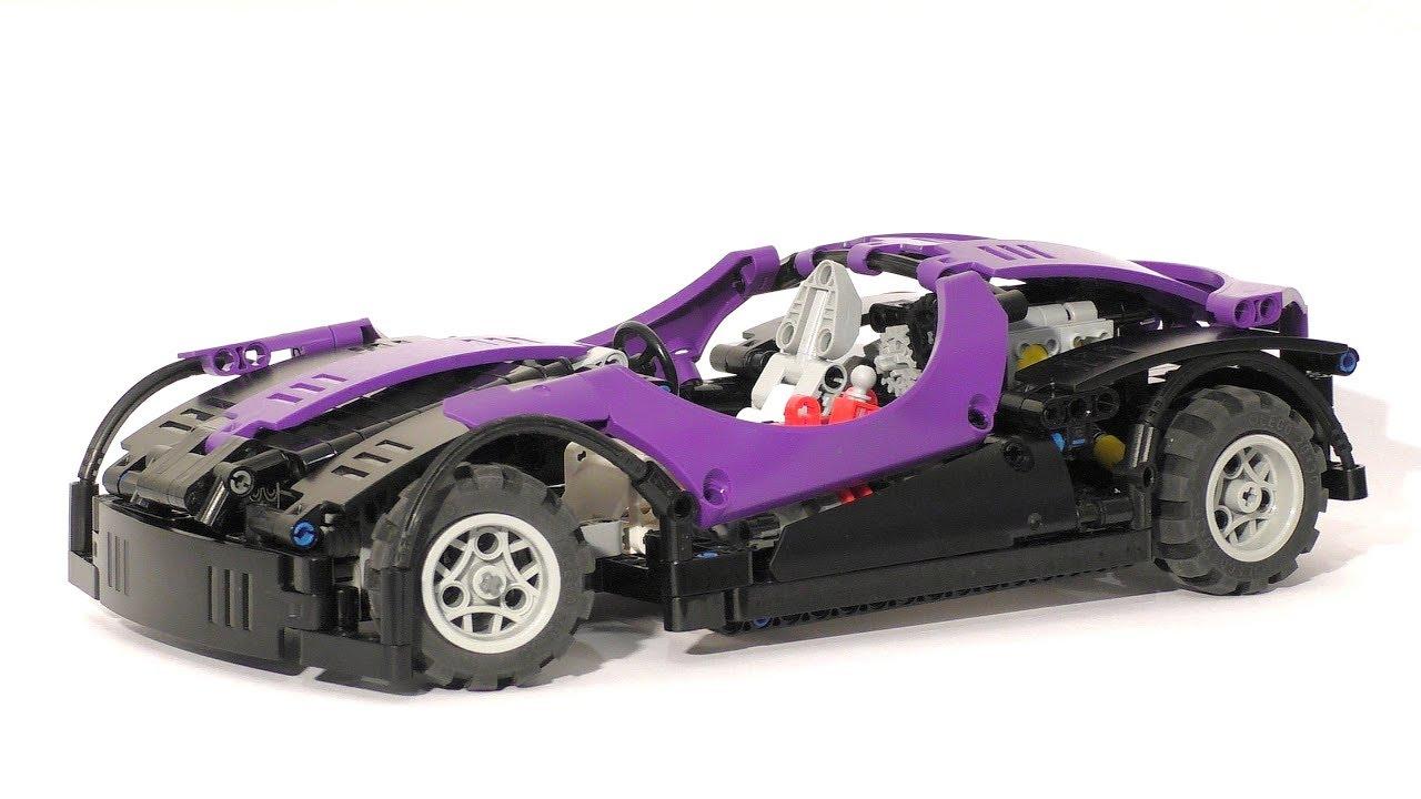 the lego technic spurplecar purple supercar lego technic mastery youtube. Black Bedroom Furniture Sets. Home Design Ideas