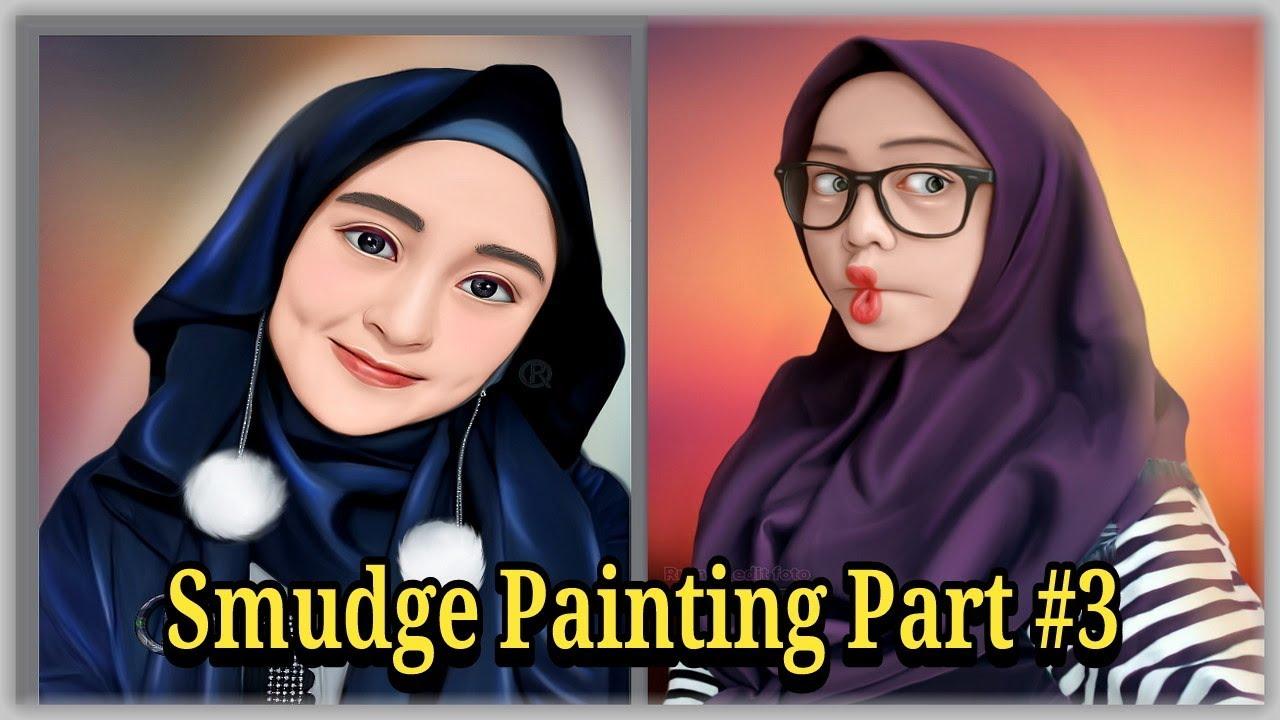 Smudge painting android Proses pembuatan Mata - Sketchbook