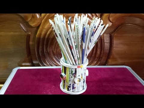 Flower Vase Out Of Waste Newspaper / DIY Best Out Of Waste Idea