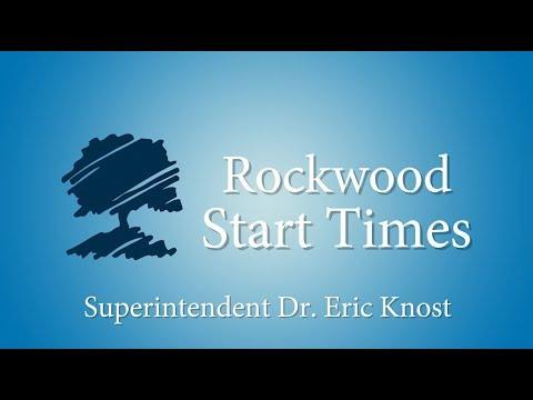 2018-2019 Rockwood Start/Dismissal Times