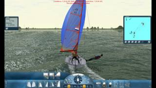 Sail Simulator 5 tip for the 29er boat downwind with spin.