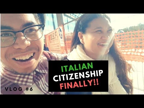FILIPINA GIRL FINALLY GOT HER ITALIAN CITIZENSHIP !!