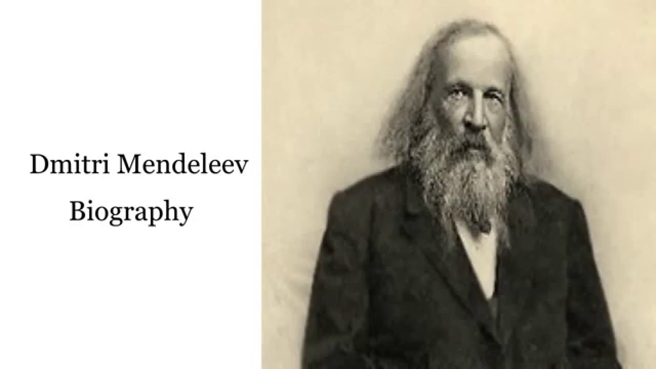 a biography of dmitry ivanovich mendeleleyev Mendeleyev synonyms, mendeleyev pronunciation, mendeleyev translation, english dictionary definition of mendeleyev or n dmitri ivanovich  1834–1907, russian chemist he devised the original periodic table of the elements noun 1.
