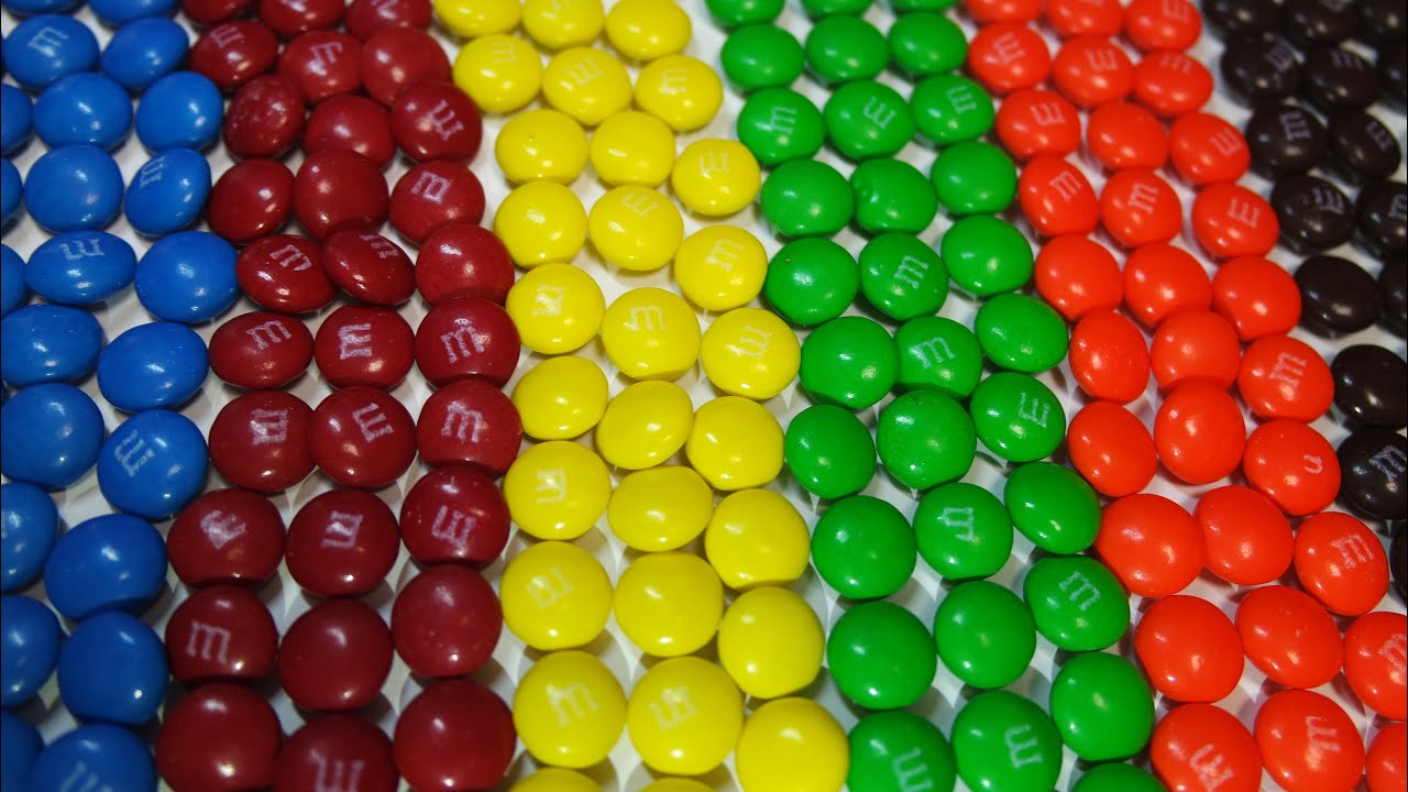 Counting, Numbers, Colors with M&M\'s for Children - YouTube
