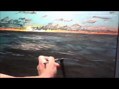 Sunset Beach, Oahu – Time Lapse Painting