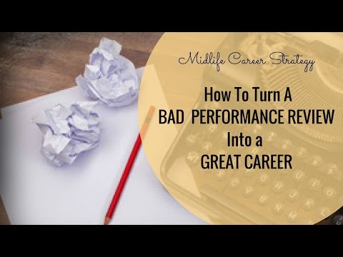 How To Deal With A Bad Performance Review