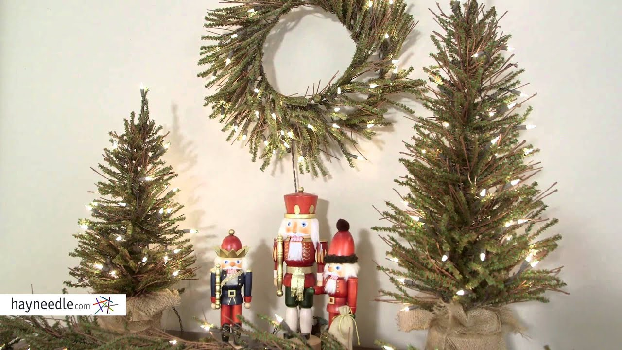 Brown Twig Pre-lit Christmas Tree