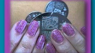 Маникюр - раскрашеный  стемпинг ! Tutorial Leadlight Stamping Nail Art Tint
