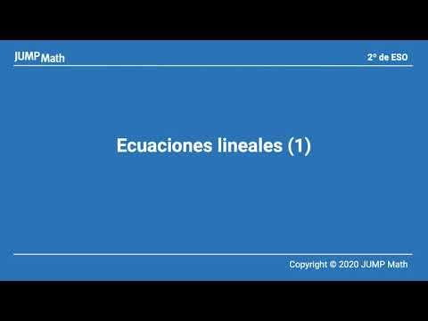2. Unidad 4. Ecuaciones lineales I