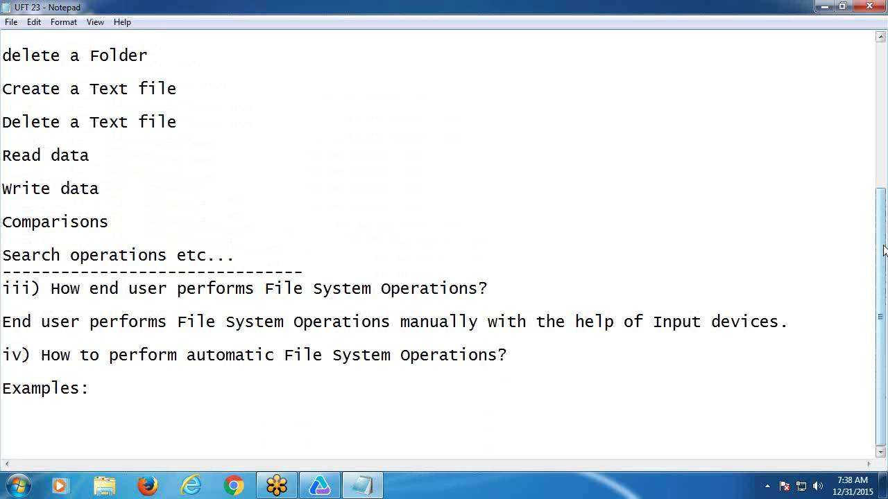 VBScript FileSystemObject - Software Testing