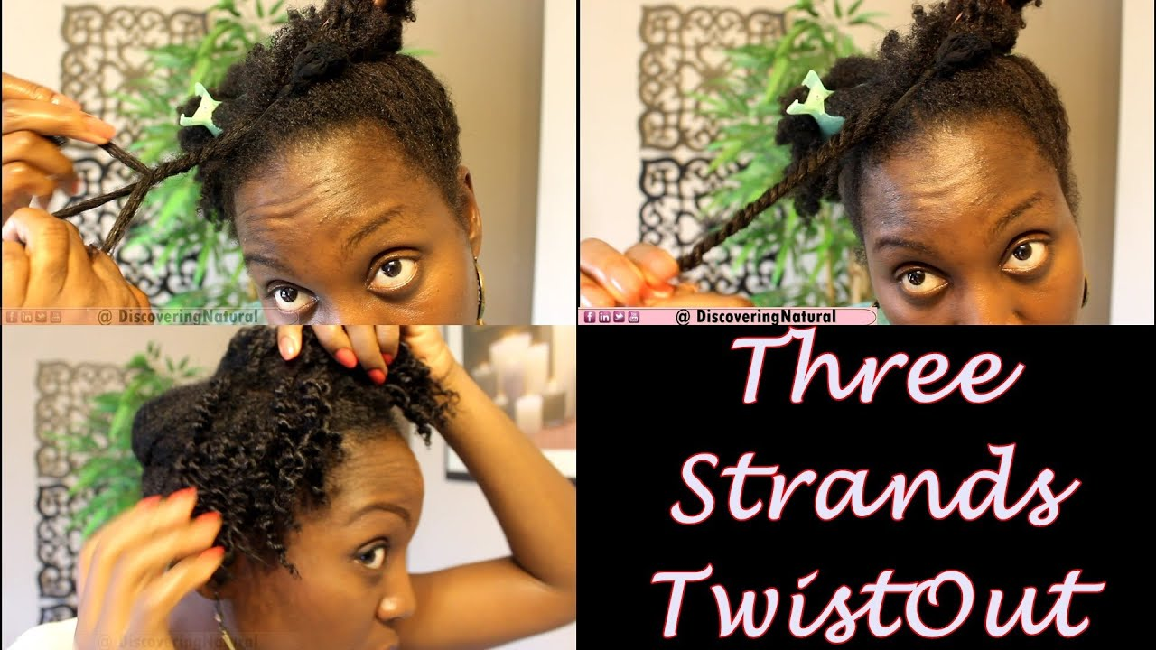 3 Strands Twists Twistout On Natural Hair Eden