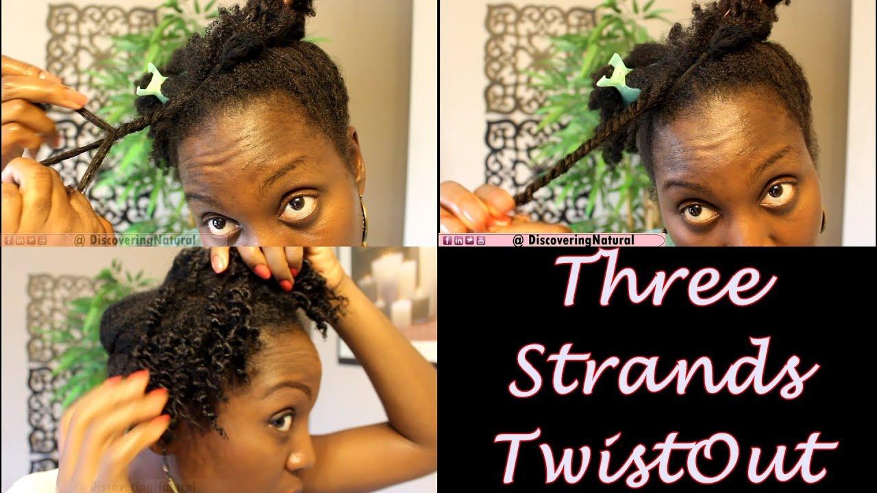 three strands twists natural