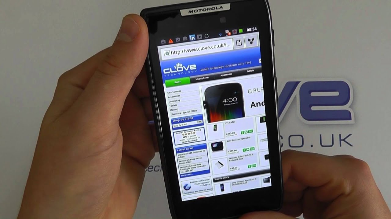 motorola razr xt910 android smartphone software tour youtube rh youtube com