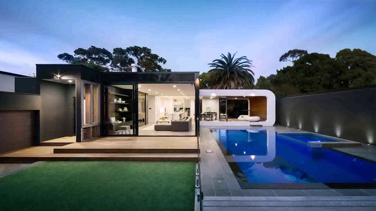 Small Modern House With Swimming Pool Daddygif Com See Description Youtube