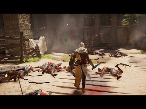 BLOODY SAND - Assassin's Creed Origins Flawless Arena Combat *NO DAMAGE*