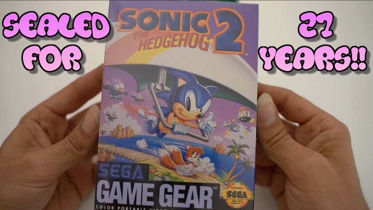 Sealed Sega Game Gear Unboxing Sonic The Hedgehog 2 Youtube