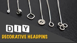 How to make Decorative Headpins | Jewellery Making | Wire Jewellery Findings | VHMJ