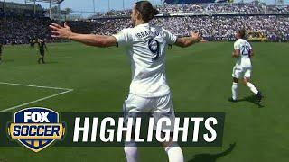 Watch 2 incredible debut goals by Zlatan Ibrahimovic   2018 MLS Highlights