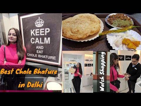 Best Chole Bhature In Delhi | Sitaram Paharganj | Watch Shopping | Connaught Place | Ghummakad Girl
