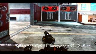 Call of Duty Black Ops Knifing Battle - SpiderMan sTyX v. Honeyybadjer76 (XBL)