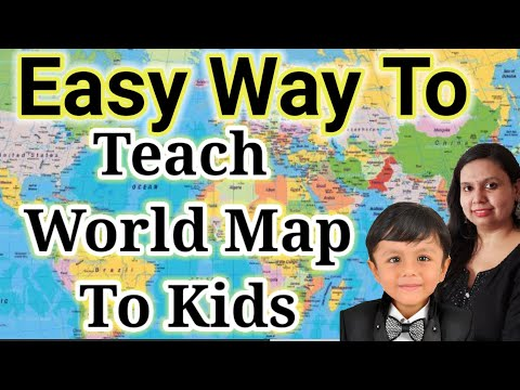 How To Teach WORLD MAP To TODDLERS | TIPS To Teach World Map | How To Teach World Map