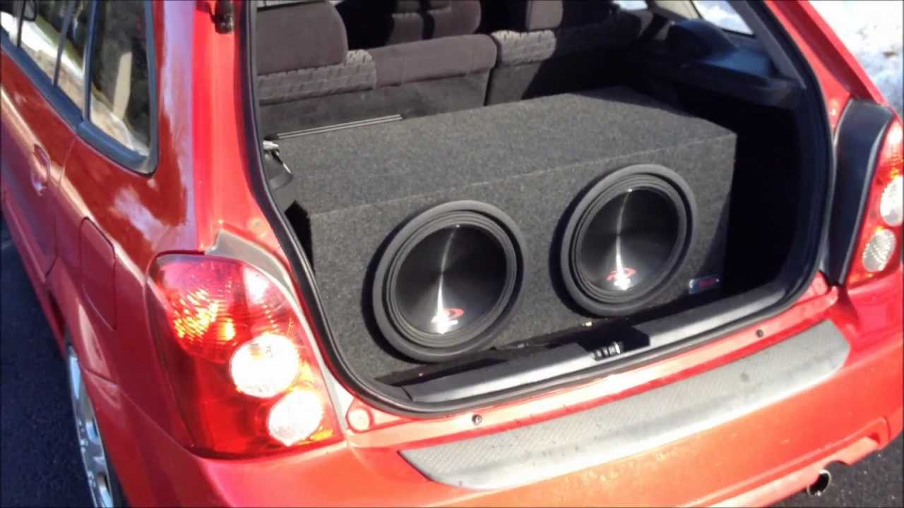 Alpine 12 Quot Type R S Ported Box Hatchback 1000w Amp Youtube
