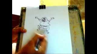 how to draw happy man