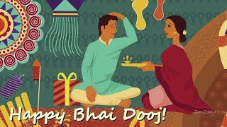 Happy bhai dooj wishes and greetings video   bhai dooj greetins card   भैया और बेहना
