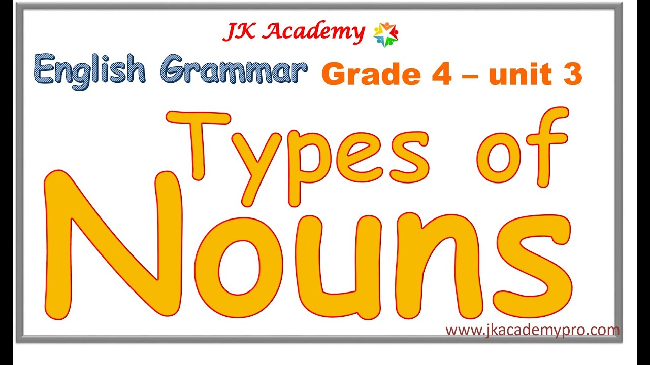 hight resolution of nouns   types of nouns   kinds of nouns   english grammar nouns   (grade 4