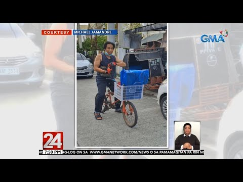 Man rides old bike from Manila to Cavite for 3 hours to deliver package for P250   24 Oras
