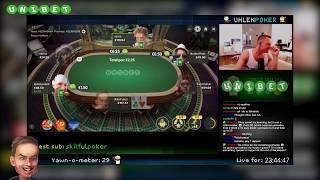 UhlenPoker plays cash games for 24 hours straight - Stream highlights!