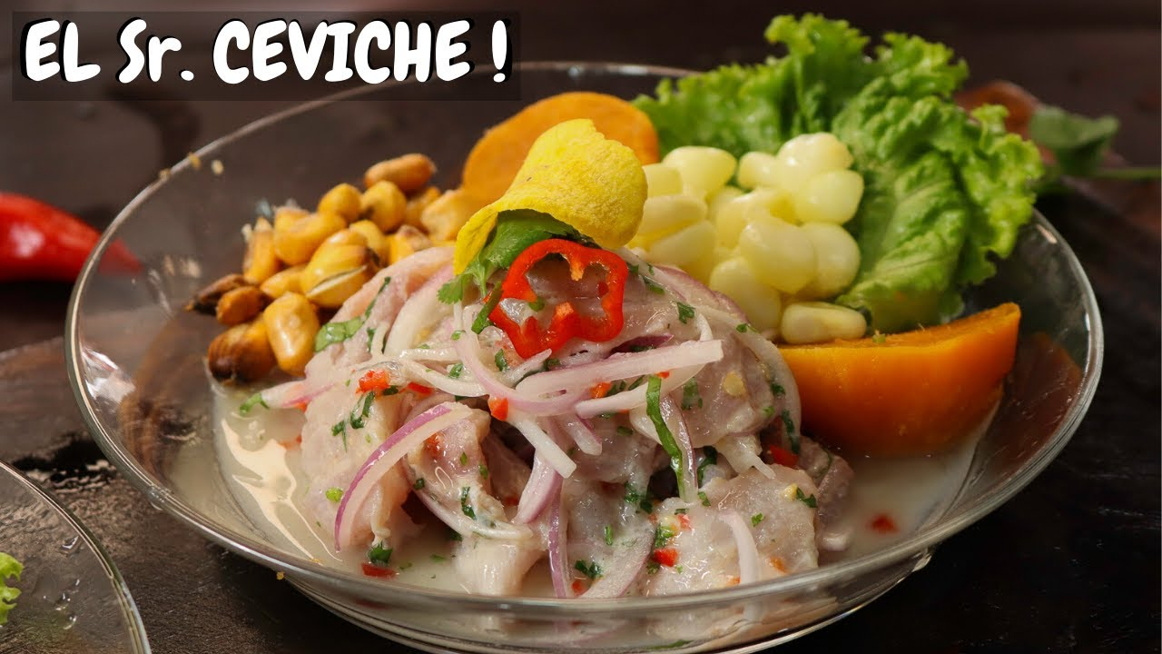 Como Preparar Ceviche Peruano En Un Toque Cocina Facil Youtube Ceviche Good Eats Eat