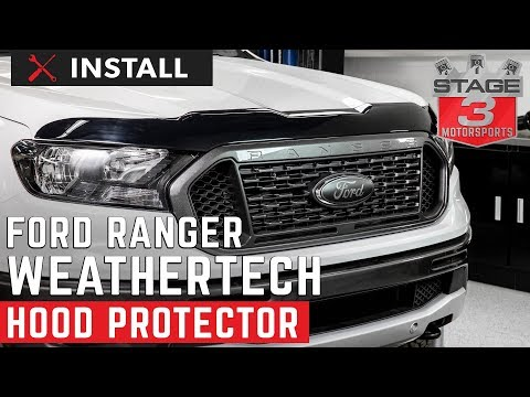 2019 Ford Ranger WeatherTech Hood Protector Install