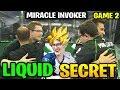 LIQUID vs SECRET TI8 - MIRACLE INVOKER - THE INTERNATIONAL 2018 GAME 2