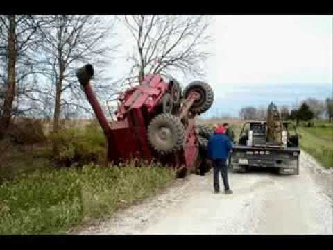 Big Bud 747 >> Worst Tractor Accidents part 2 - 2015 [warning shocking ...