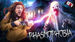 GHOST HUNTING in PHASMOPHOBIA!  (FGTeeV Ghostbusters Skit/Gameplay)