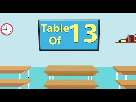 13 Times Table For Beginners   13x Table   Learn Thirteen Multiplication Tables For Kids - Maths