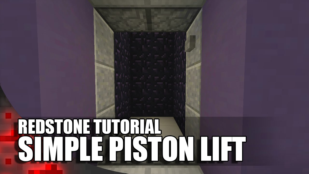 Minecraft Simple Piston Lift Tiny Elevator Youtube Redstone Wiring Tutorial