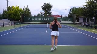 Katerina Argiriou - College Tennis Recruiting Video - Fall 2019
