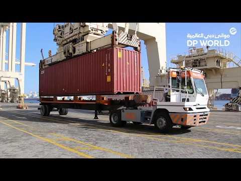 A fleet of Autonomous Trucks at Jebel Ali port using Xsens M