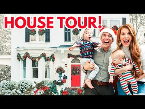 New House Tour furnished and decorated for Christmas!