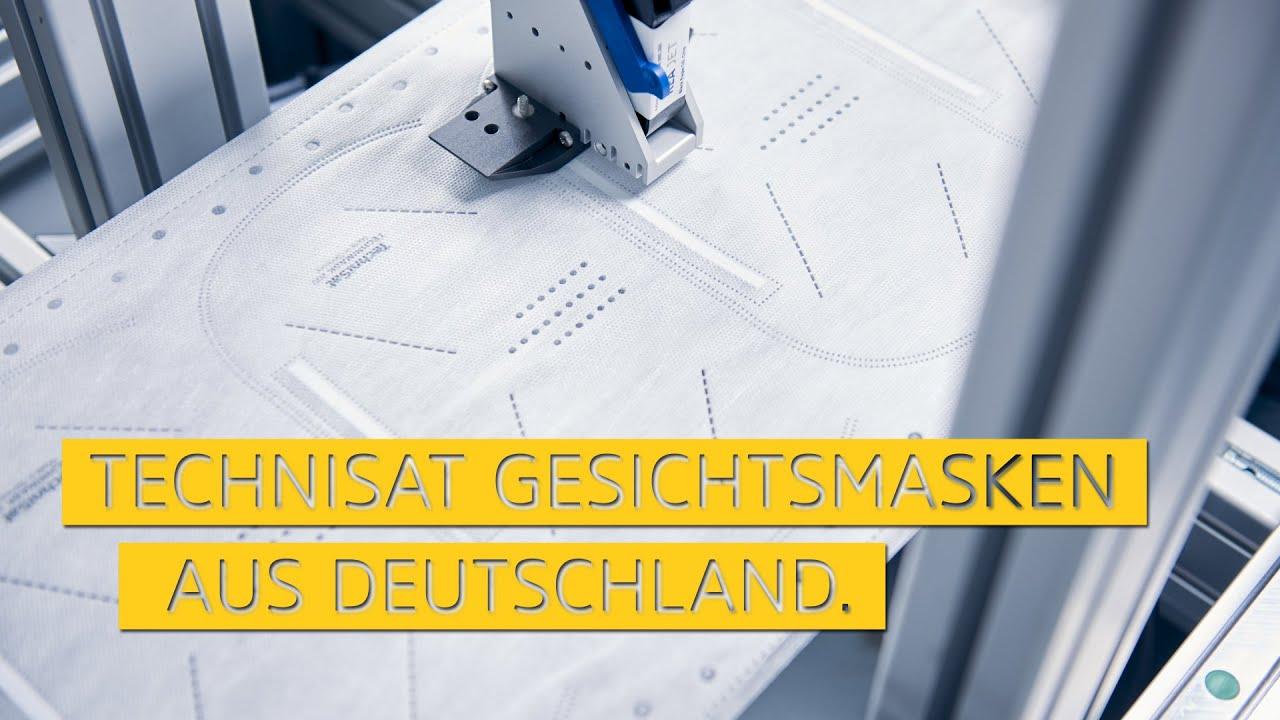 Video: Gesichtsmasken aus Deutschland. Hergestellt in Schöneck/Vogtland. | TechniSat