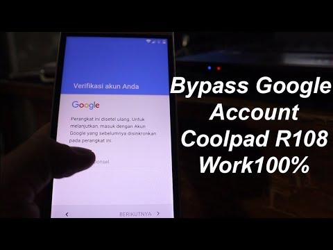 Bypass Google Account Coolpad R108 Youtube