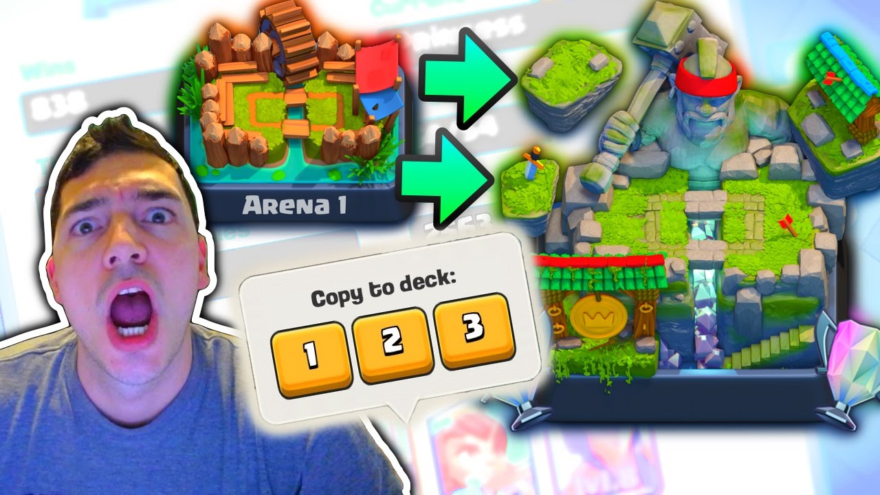 Clash Royale BLIND DECK Copy Arena 1 Arena 8! - YouTube