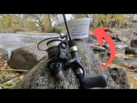 How To Rig/Set Up Live Worms For Trout Fishing | Fishing With Nightcrawlers