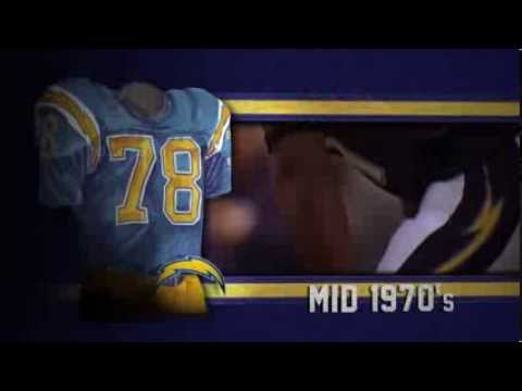 San Diego Chargers uniform and uniform color history
