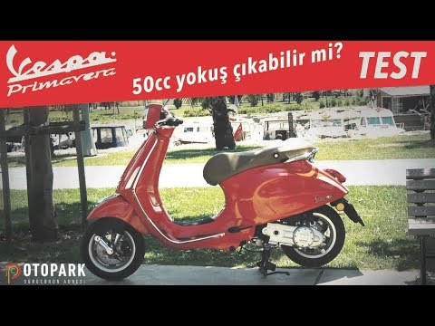 Ehliyet gerektirmeyen motosiklet !? | Vespa Primavera 50 | TEST
