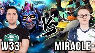 w33 Meepo Signature Hero vs Miracle- Gyrocopter What a Game! - Dota 2