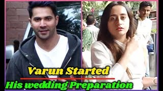 Varun Dhawan Started Wedding Preparation with Natasha Dalal